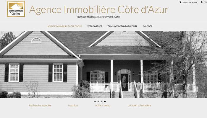 Site Web d' Agence Immobilière Prêt à l'emploi en Vente