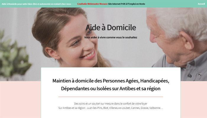Site Prêt à l'Emploi d'Aide à Domicile en Vente Site Web HTML