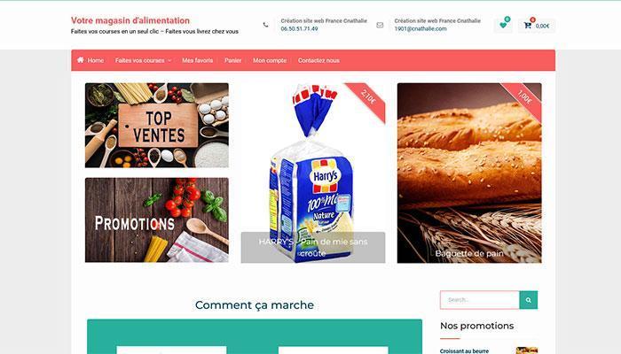 Vente site web Votre magasin d'alimentation en ligne Cnathalie