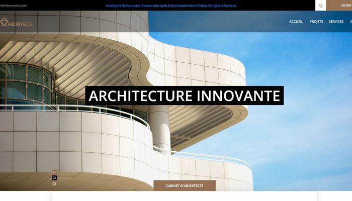 Site Web HTML template Architecte Prêt à L'emploi à Vendre