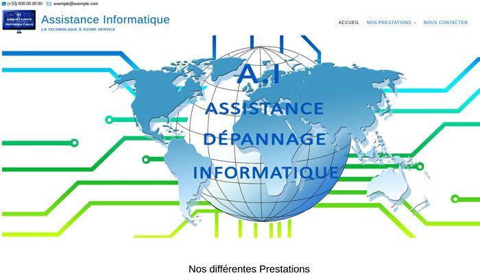 Site Web d'informatique Prêt à L'emploi en Vente