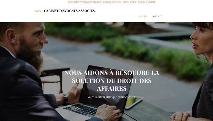 Cnathalie webmaster Site Internet Avocat (cabinet d'avocat) Prêt à L'emploi en Vente