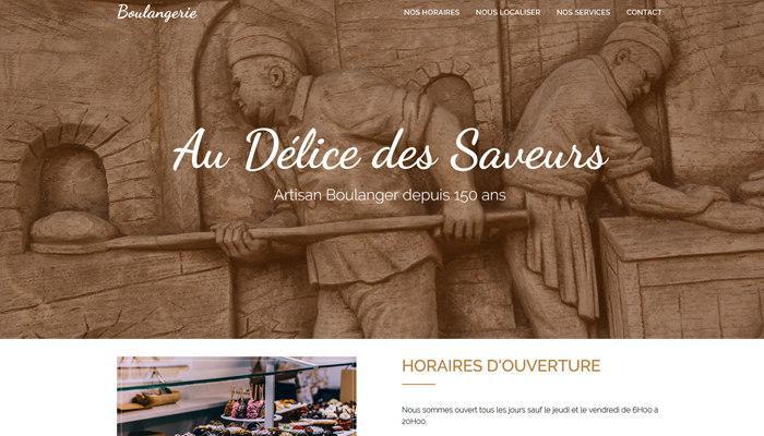 A vendre Site internet Boulangerie One Page vitrine Html
