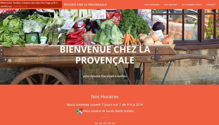 A vendre Site Internet Épicerie Vitrine One Page Html