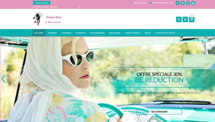 E-commerce de Vêtement (Mode) Prêt à l'Emploi à Vendre