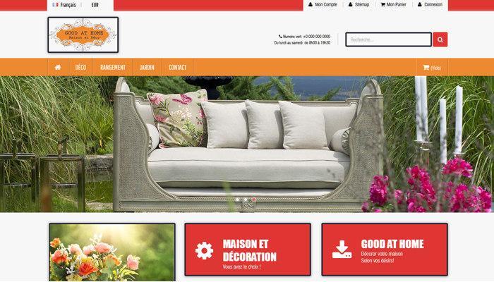 e-commerce de décoration à vendre Cnathalie