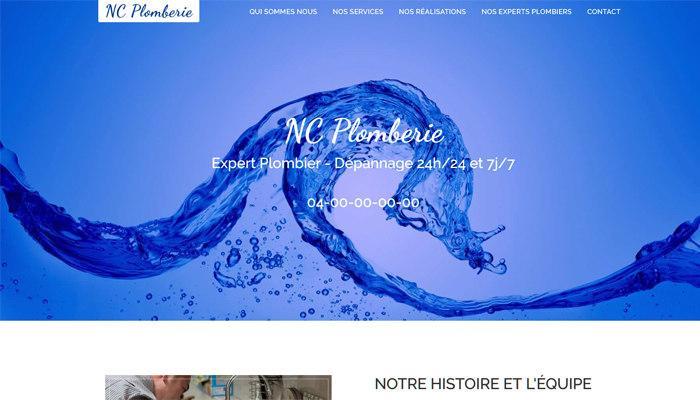 En Vente Site web Plombier, Plomberie vitrine One Page Html