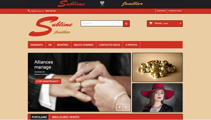 Prestashop : E-commerce bijouterie de luxe créer par Cnathalie Sublime