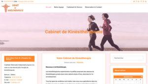 Création site internet de kinésithérapeute prêt à l'emploi à vendre