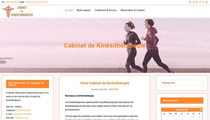 Site Web Centre de Kinésithérapie Prêt à l'Emploi en Vente
